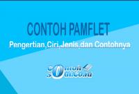 Contoh Pamflet