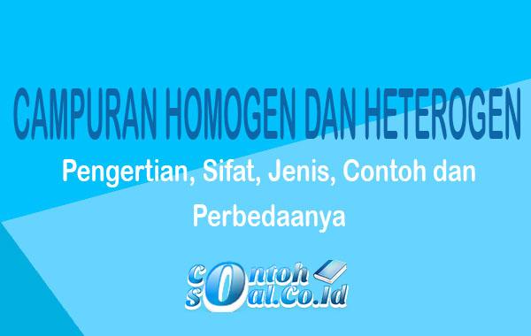Campuran Homogen dan Heterogen