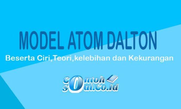 contoh atom dalton