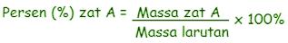Rumus mol dengan persen massa