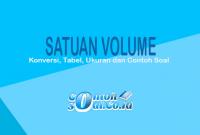 contoh satuan volume