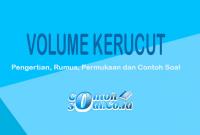 contoh soal volume kerucut