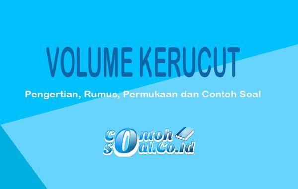 contoh volume kerucut