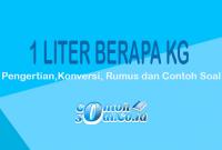 Contoh Liter ke Kg