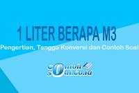 1 Liter ke meter