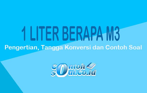 1 liter berapa m3