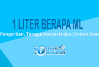 Contoh Liter ke ml