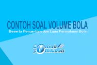 Contoh Soal volume Bola