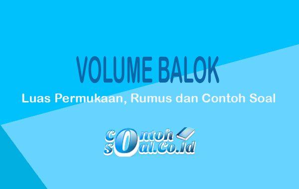 Contoh volume balok