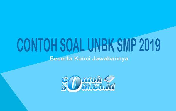 Contoh Soal UNBK SMP