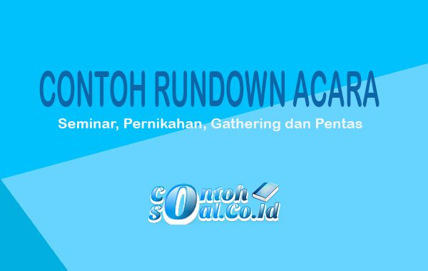 Contoh Rundown Acara