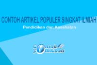 Contoh Artikel Populer Singkat Ilmiah