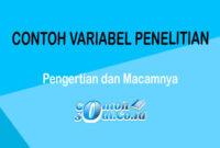 Contoh Variabel Penelitian