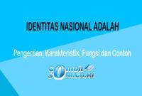 Identitas Nasional Adalah