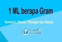 1 ML berapa Gram - Konversi, Ukuran, Hitungan dan Satuan