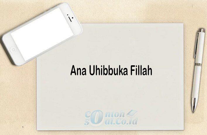 Ana Uhibbuka Fillah