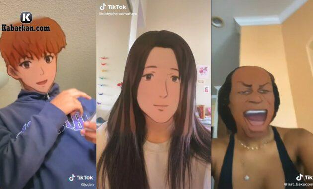 Cara Pakai Filter Anime Tiktok 2021